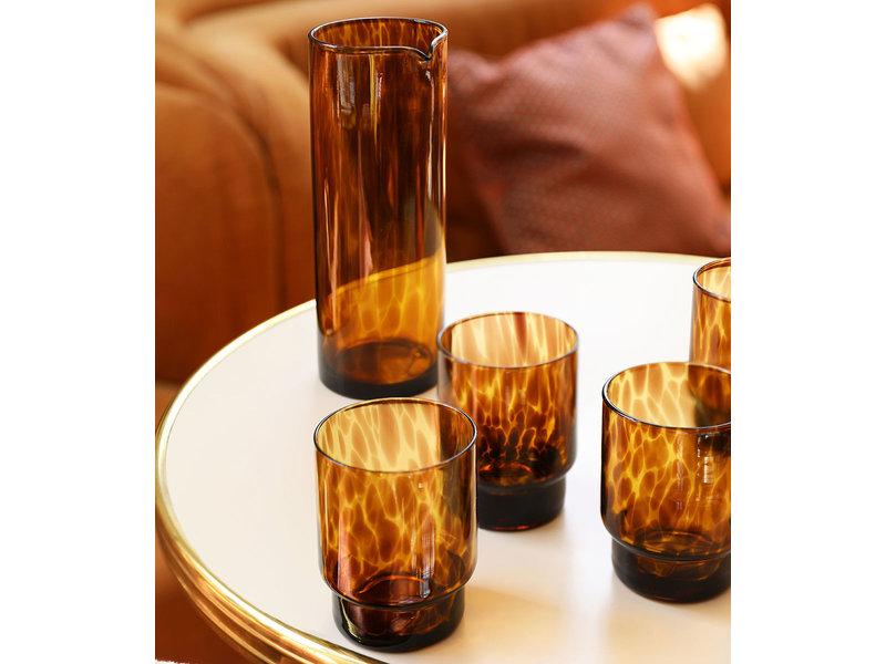 &Klevering Glass Tortoise Amber 4 pcs.