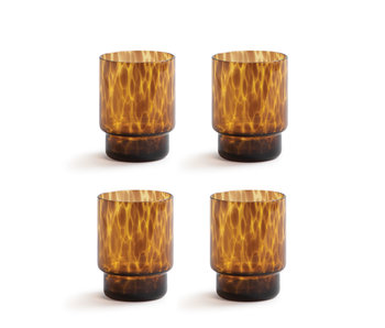 &Klevering Glass Tortoise Amber 4 pcs.