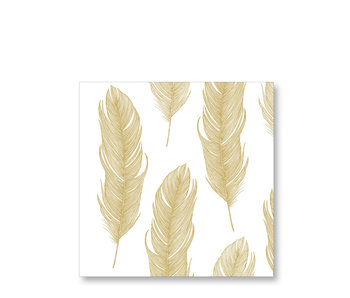 PPD Paper Napkins Elegant Feather Gold 33/33
