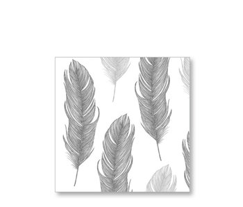 PPD Paper Napkins Elegant Feather Black 33/33