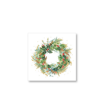 PPD Cocktail Napkins Christmas Hill Wreath 25/25