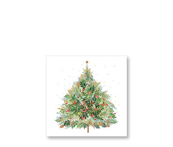 PPD Cocktail Napkins Christmas Hill Tree 25/25