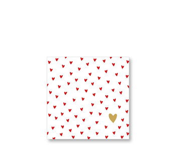 PPD Cocktail Napkins Little Hearts 25/25
