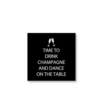 PPD Cocktail Napkins Drink Champagne Black 25/25