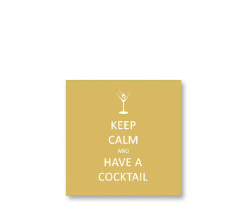 PPD Cocktail Napkins Keep Calm Cocktail Gold 25/25