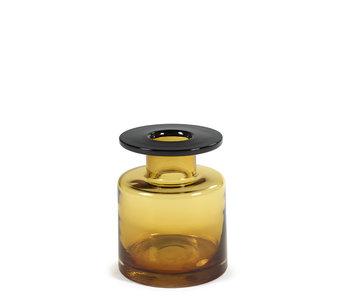 Serax Wind & Fire Vase Amber/Black 22 cm