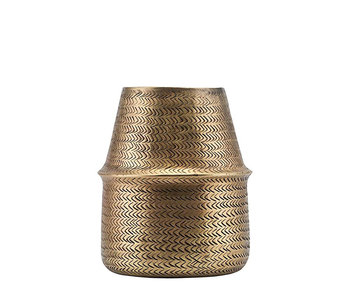 House Doctor Planter Rattan Brass Finish