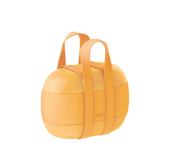 Alessi Food à Porter 3-Compartment Lunchbox Yellow