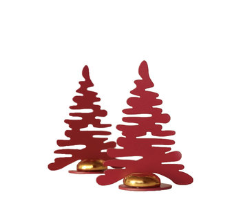 Alessi Barkplace Tree Red/Gold 2 pcs.