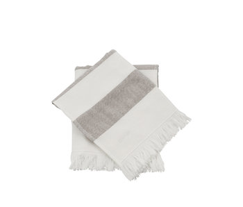Meraki Towel Barbarum 40/60 White/Brown 2 pcs.