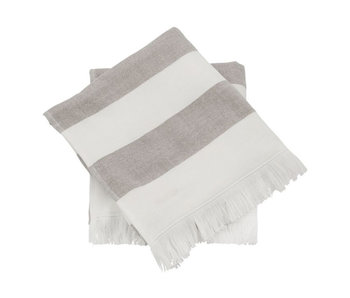 Meraki Barbarum Towel 50/100 White/Brown 2 pcs.
