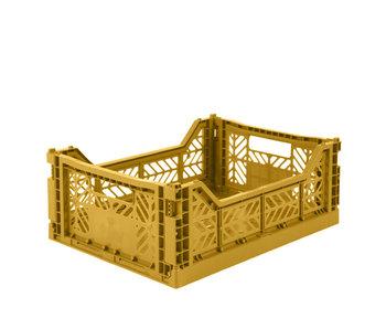 Aykasa Folding Crate Midi Mustard