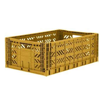 Aykasa Folding Crate Maxi Mustard