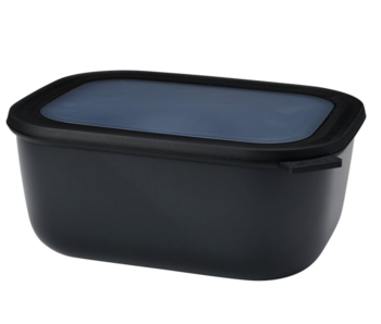 Mepal Cirqula Multikom Rechthoekig 3000 ml Nordic Black