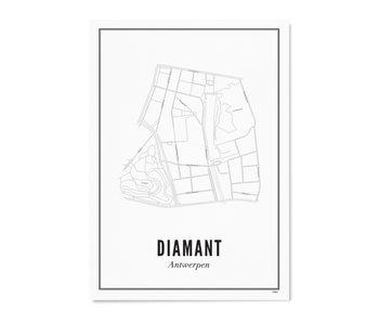 Wijck Poster Antwerp Diamant 50/70
