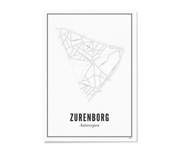 Wijck Poster Antwerp Zurenborg 50/70