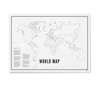 Wijck Poster World Map 30/40