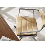 Vipp 452  Swivel chair w/ castors Polished aluminium Sand leather
