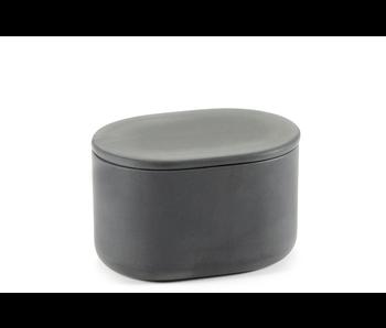 Serax Cose Potje Ovaal L 10/7/6 Dark Grey