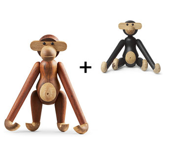 Kay Bojesen Monkey Small Teak and Limba + Mini Dark Stained
