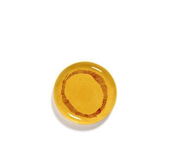 Serax Feast Bord Sunny Yellow Swirl-Stripes Rood 19 cm