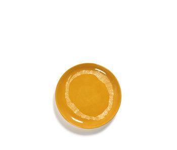 Serax Feast Bord Sunny Yellow Swirl-Stripes Wit 19 cm