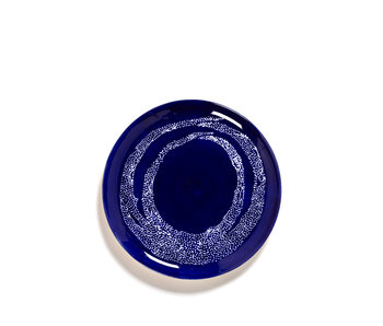 Serax Feast Bord Lapis Lazuli Swirl-Dots Wit 26 cm