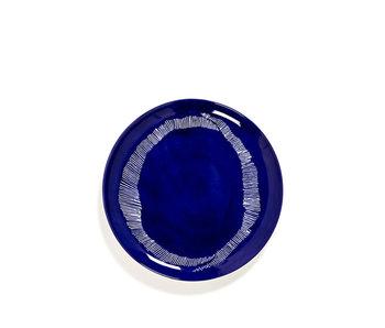 Serax Feast Bord Lapis Lazuli Swirl-Stripes Wit 26 cm