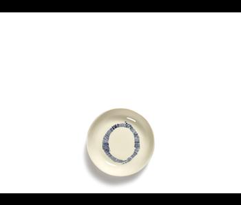 Serax Feast Schotel Wit Swirl-Stripes Blauw 11,5 cm
