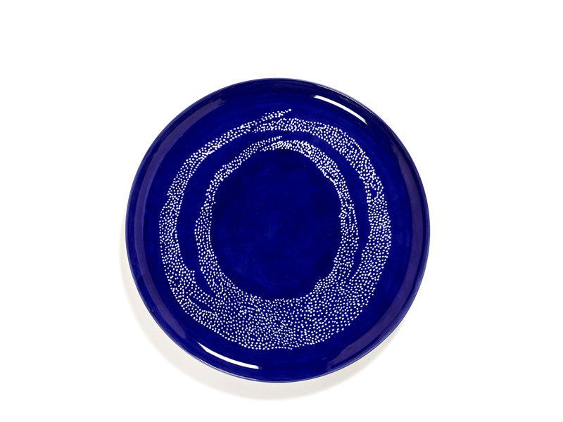 Serax Feast Serveerbord Lapis Lazuli Swirl Dots White 35 cm