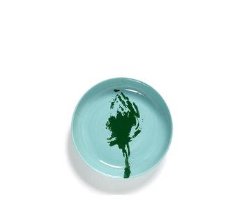 Serax Feast Hoog Bord Azure Artisjok Groen 22 cm