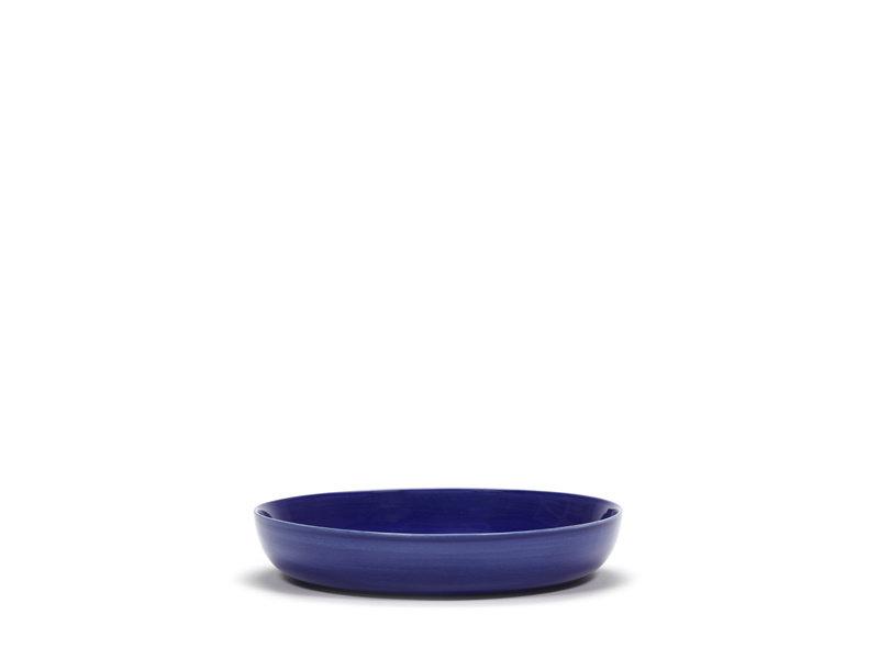 Serax Feast Hoog Bord Lapis Lazuli Stripes wit 22 cm
