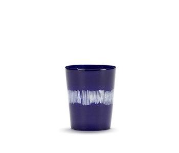Serax Feast Theekop Lapis Lazuli Swirl Stripes Wit 33 cl