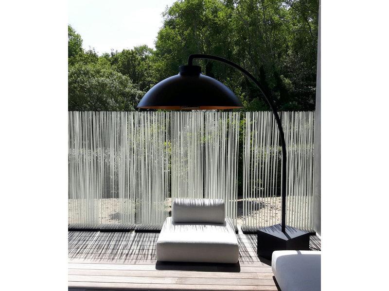 Heatsail Dome Staanlamp Midnight incl Bluetooth muziek, 2 extra wielen