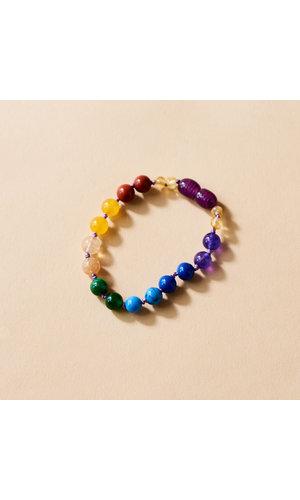 Amber Chakra Bracelet - Rainbow Glory 14 cm