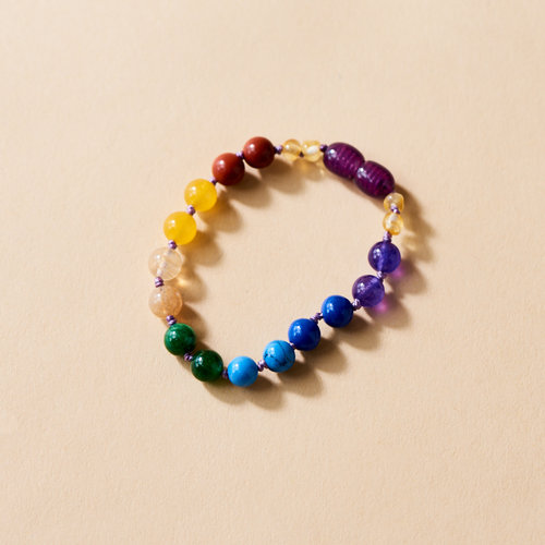 Moonsisters Amber Chakra Bracelet - Rainbow Glory 14 cm