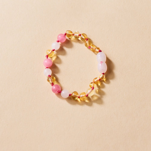 Moonsisters Amber Bracelet - Sunny Rose 14 cm