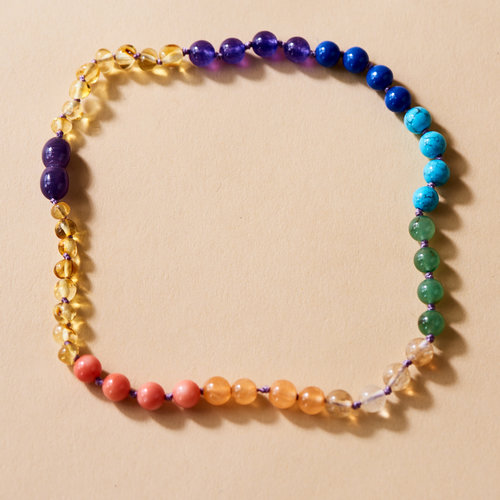 Moonsisters Amber Necklace - Rainbow Glory 32 cm