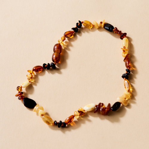 Moonsisters Amber Necklace - Pebbels 32 cm