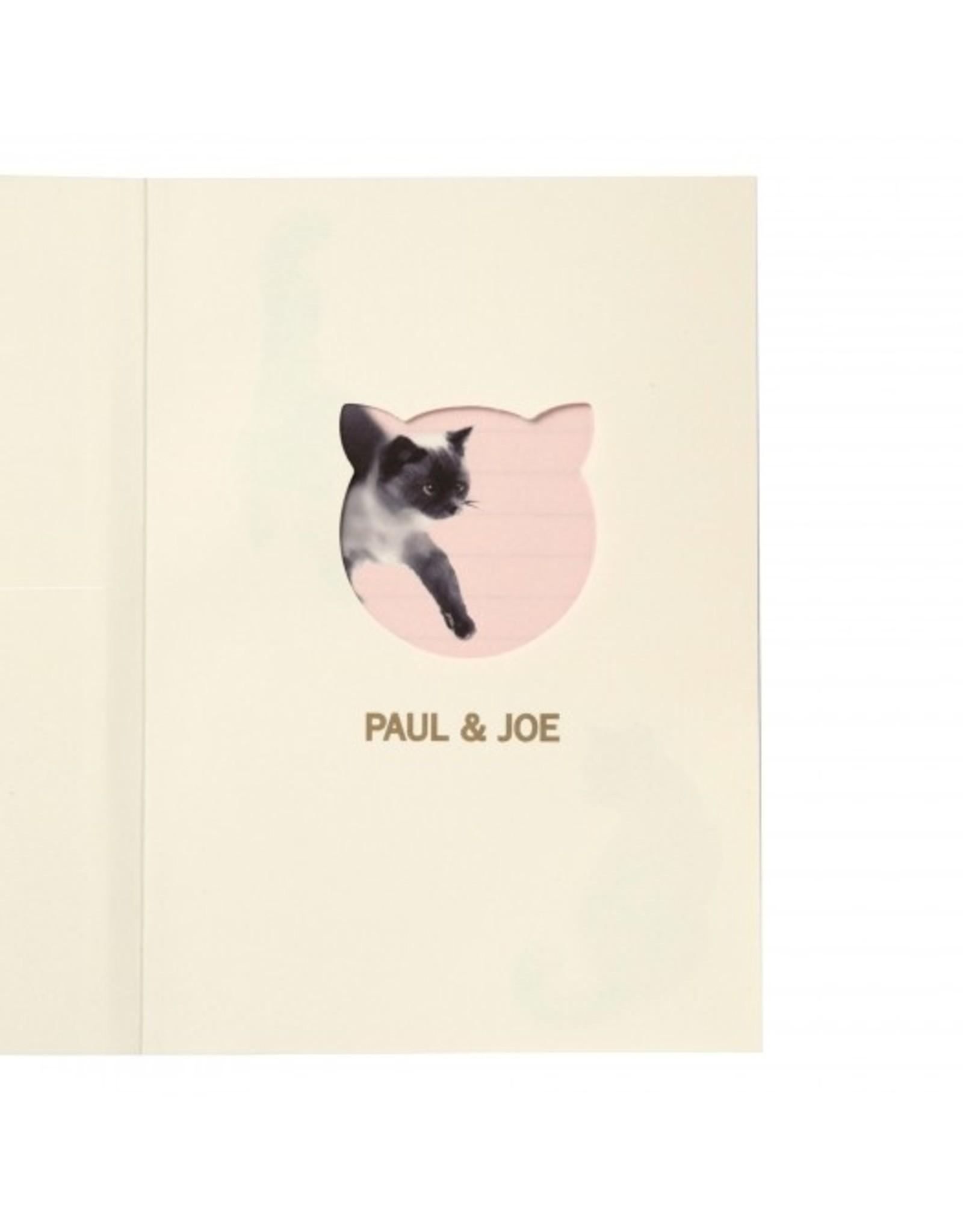 Paul & Joe PAUL & JOE - Notebook A6 - lichtroze zwarte kat