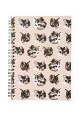 Paul & Joe PAUL & JOE - Spiraal Notebook A5 - kattenhoofd zwart wit
