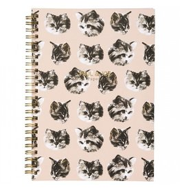 Paul & Joe PAUL & JOE - Spiraal Notebook A5 - kattenhoofd zwart wit