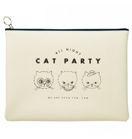 Mark's Tokyo Edge Mark's - All Night etui groot , Cat - Wit flat pouch