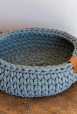 Sunny Baskets Sunny Baskets handgehaakte kattenmand - Groengrijs M