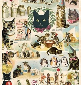 Cavallini Papers Cavallini Papers Vintage cats A cat is the best pet - poster