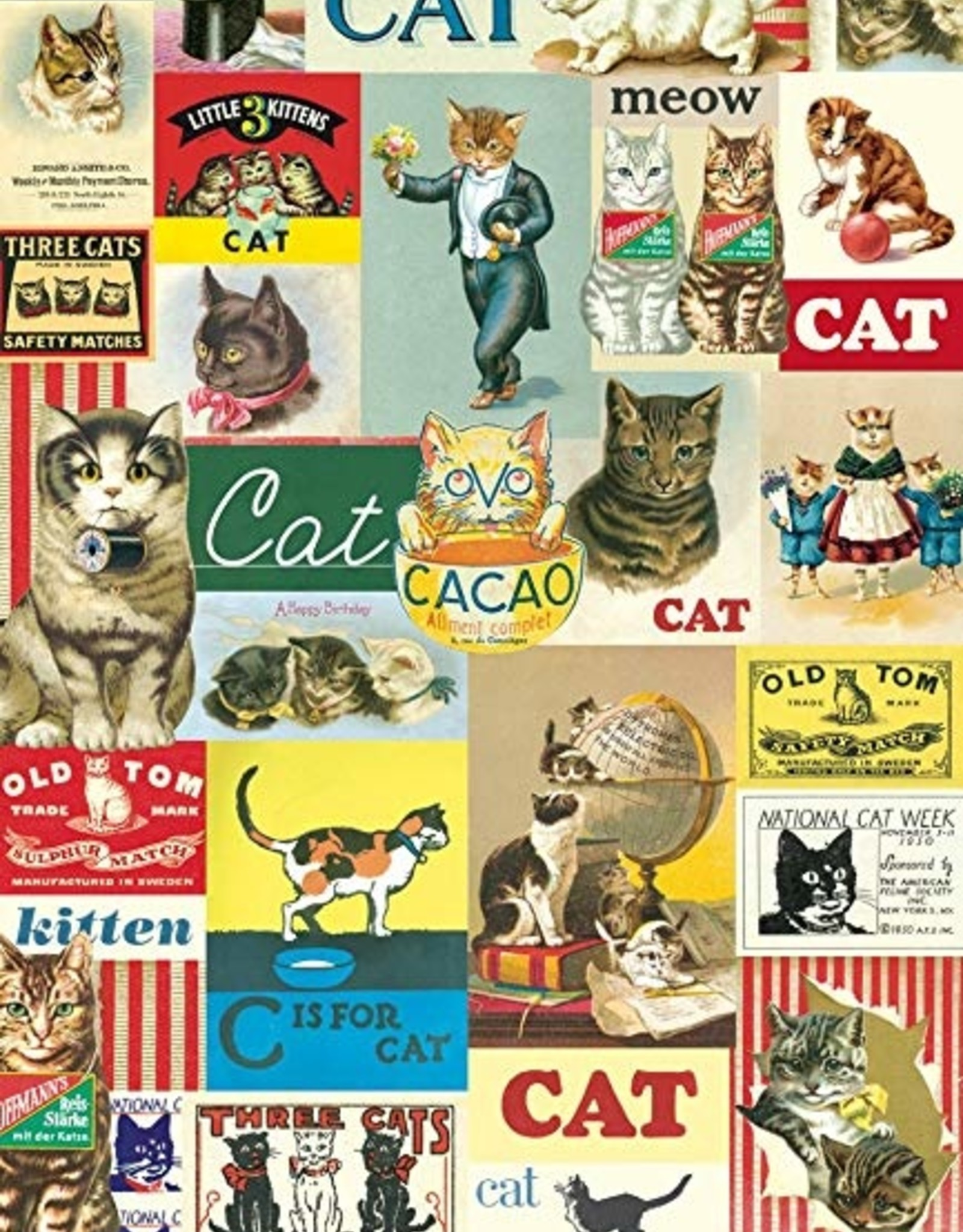 Cavallini Papers Cavallini Papers poster - cat collage C is for cat