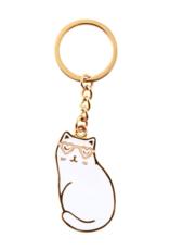 Sass & Belle Sass & Belle Cutie Cat wit sleutelhanger