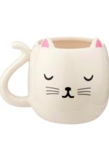 Sass & Belle Sass & Belle- Cutie Cat shaped Mug - White
