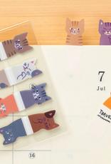 Midori Midori index stickers bruin roze grijs