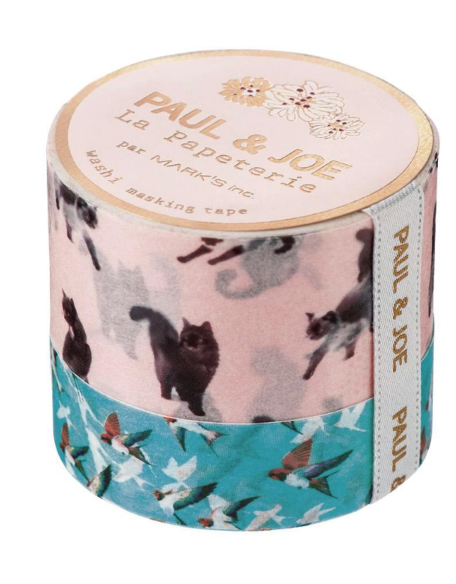 Paul & Joe Paul & Joe Masking tape - F - Blauw vogel Roze kat